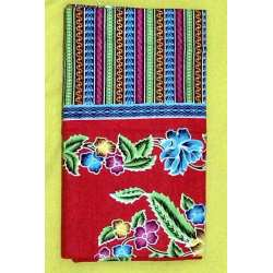 Flower Batik Scarf Red Pattern A