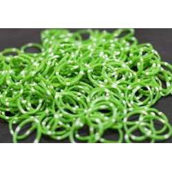 Rubber Bands Green White Dot