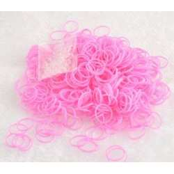 Rubber Bands Solid Pink 2