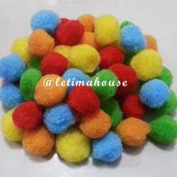 MIX COLOR POM POM 18MM