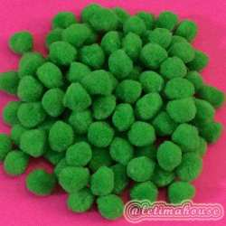 GREEN POM POM 15MM