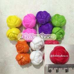 Large Rose Plastic Beads