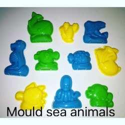 Cetakan Binatang Laut Motion Sand