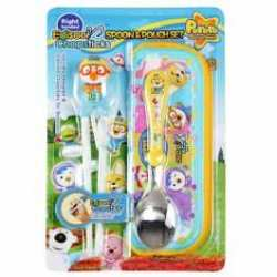 Trainning Chopstick and spoon Pororo Blue set