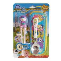 Trainning Chopstick and Spoon Petty Pink Set