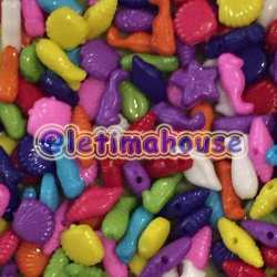 Sea Animal Plastic Beads