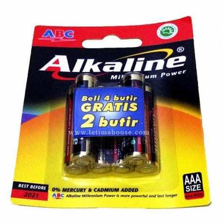 Battery ABC Alkaline AAA